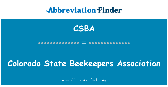 CSBA: Colorado State Beekeepers Association