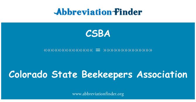 CSBA: Colorado State bijenhouders Association