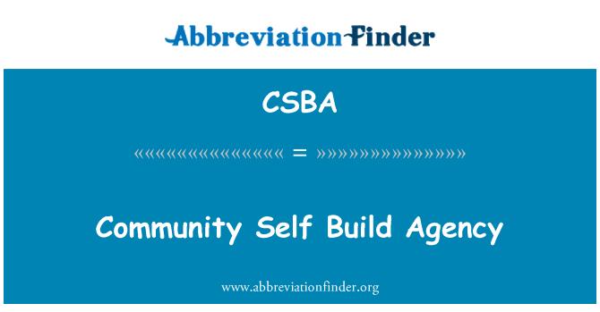 CSBA: Bendrijos savarankiškai statyti agentūra