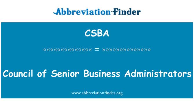 CSBA: Tarybos vyresnysis verslo administratorių