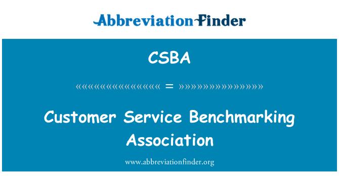 CSBA: Klientų aptarnavimo lyginamosios analizės asociacija