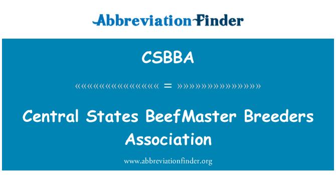CSBBA: Central States BeefMaster Breeders Association