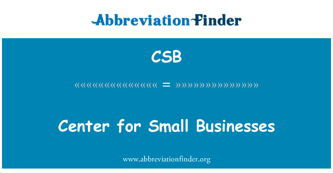 CSB: Center for Small Businesses
