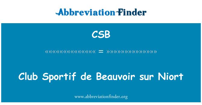 CSB: Club Sportif de Beauvoir sur Niort