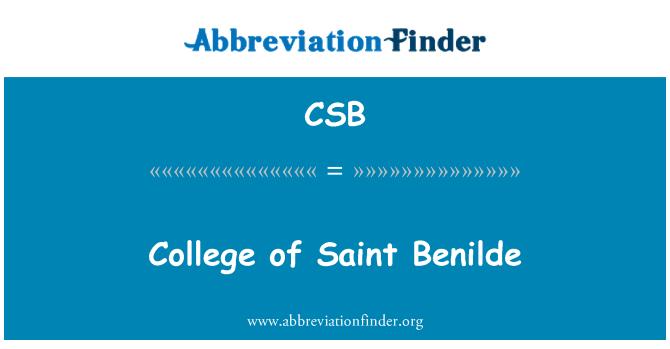 CSB: College of Saint Benilde