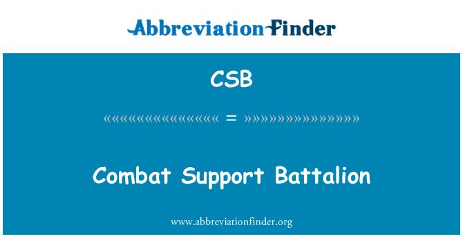 CSB: Combat Support Battalion