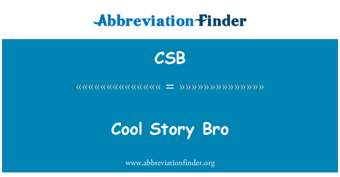 CSB: Cool Story Bro