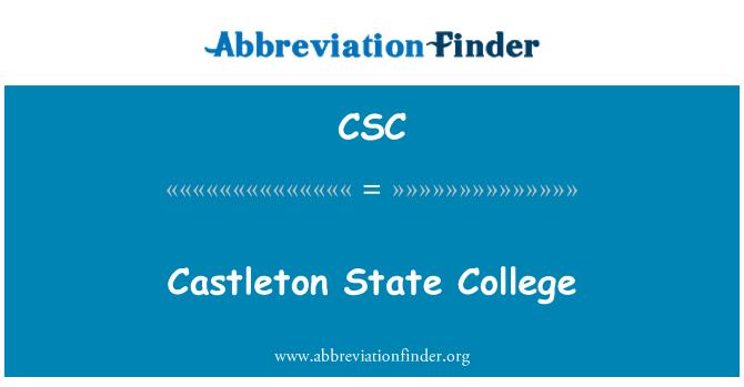 CSC: Castleton State College