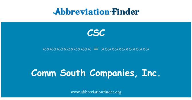 CSC: Comm South Companies, Inc.