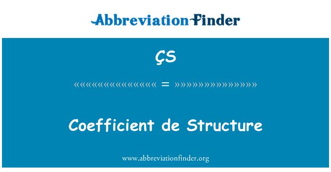 ÇS: Coeficiente de estructura