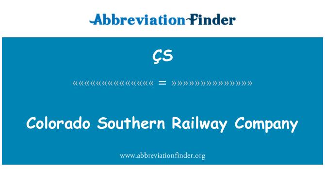 ÇS: Compañía ferroviaria del sur de Colorado