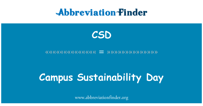 CSD: Campus Sustainability Day
