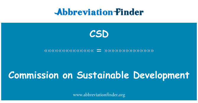 CSD: Commission on Sustainable Development