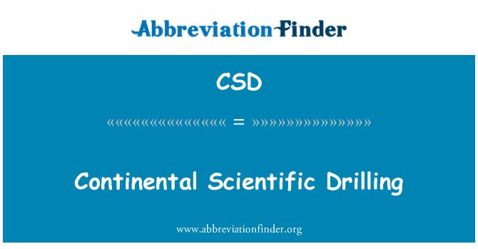 CSD: Continental Scientific Drilling
