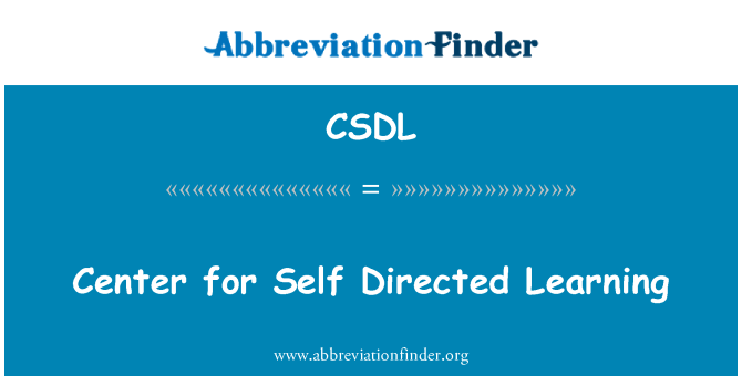 CSDL: Centar za samostalno usmjereno učenje