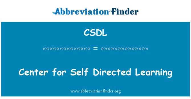 CSDL: Centro de auto-aprendizaje dirigida