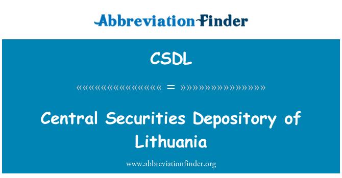 CSDL: Depositarios centrales de valores de Lituania