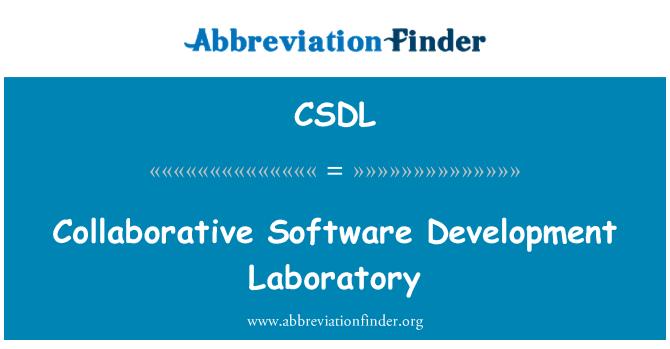CSDL: Laboratorio de desarrollo colaborativo de Software