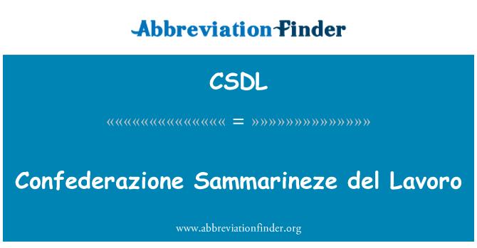 CSDL: Confederazione Sammarineze del Lavoro