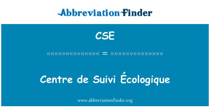 CSE: Centre de Suivi Écologique