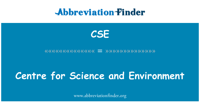 CSE: Centre for Science and Environment