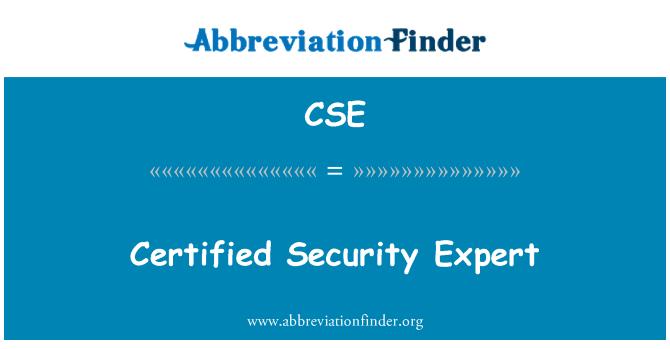 CSE: Certified Security Expert