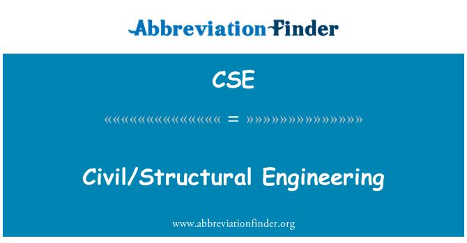 CSE: Civil/Structural Engineering
