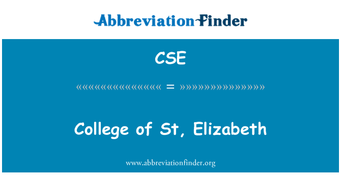 CSE: College of St, Elizabeth