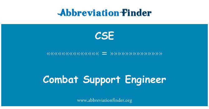 CSE: Combat Support Engineer