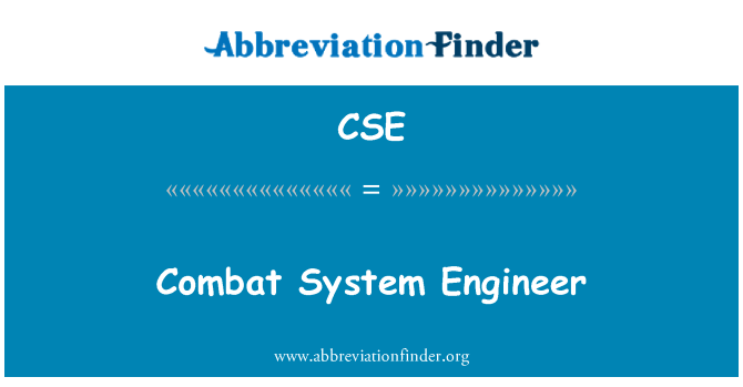 CSE: Combat System Engineer