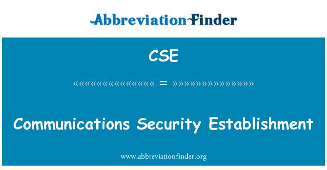 CSE: Communications Security Establishment