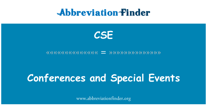 CSE: Conferences and Special Events