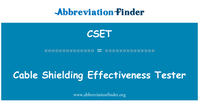 CSET: Cable Shielding Effectiveness Tester