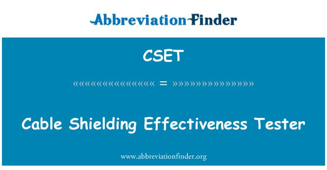 CSET: Kablo koruyucu etkinliğini test cihazı