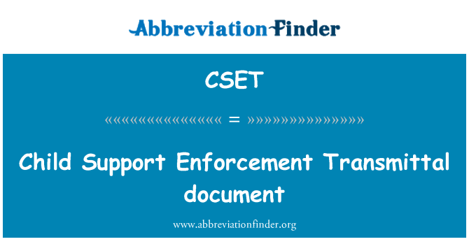 CSET: Documento de niño apoyo aplicación de la transmisión
