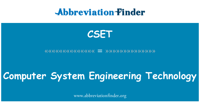 CSET: Sistema ingeniería informática