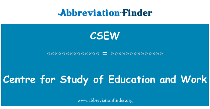 CSEW: Centre for Study of Education and Work