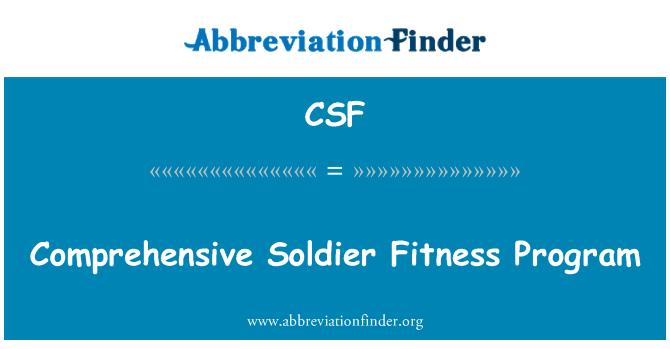 CSF: Comprehensive Soldier Fitness Program