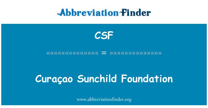 CSF: Curaçao Sunchild Foundation