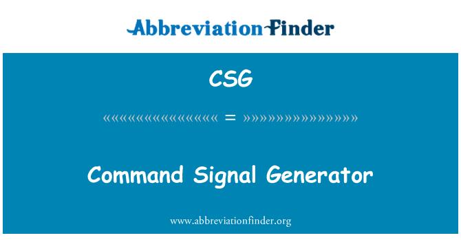 CSG: Command Signal Generator
