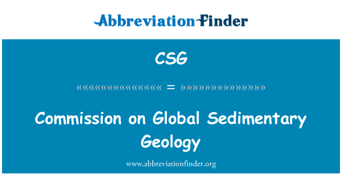 CSG: Commission on Global Sedimentary Geology