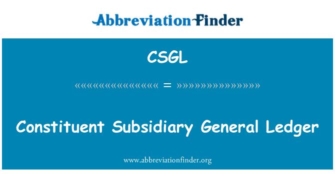 CSGL: Constituyente filial General Ledger