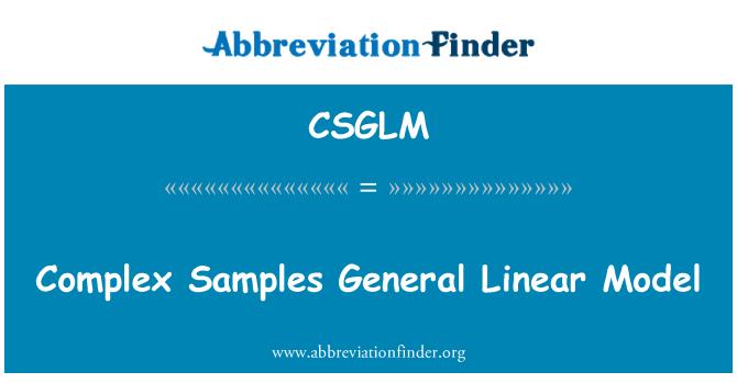 CSGLM: Complex Samples General Linear Model