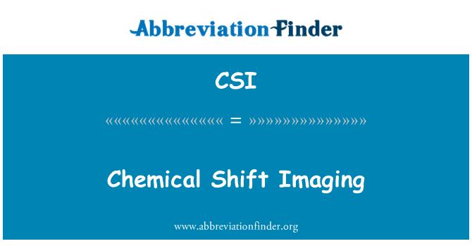 CSI: Chemical Shift Imaging