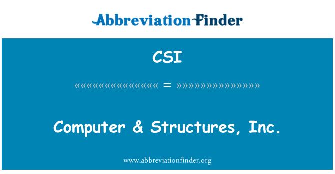 CSI: Computer & Structures, Inc.