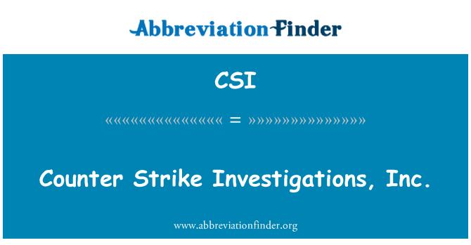 CSI: Counter Strike Investigations, Inc.