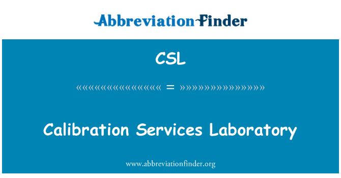 CSL: Calibration Services Laboratory
