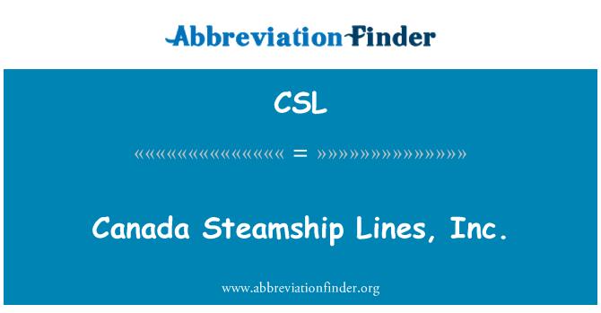 CSL: Canada Steamship Lines, Inc.