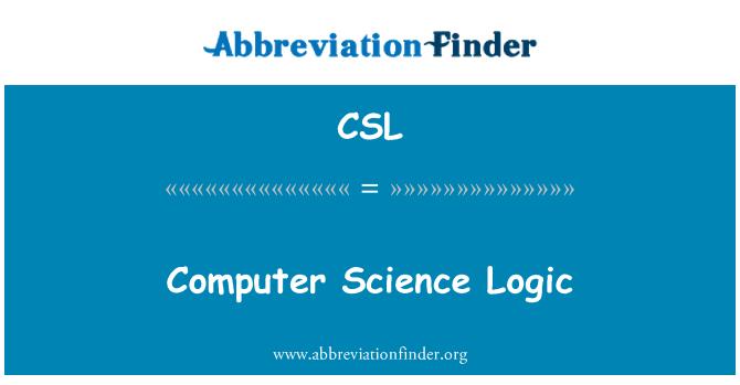 CSL: Computer Science Logic
