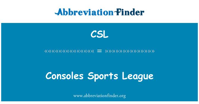CSL: Consoles Sports League